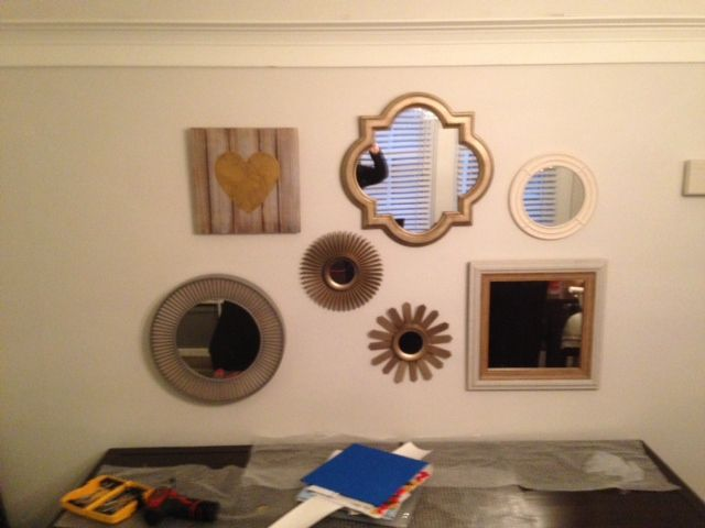 1000 images about mirror arrangements by katu design on for Different sized mirrors