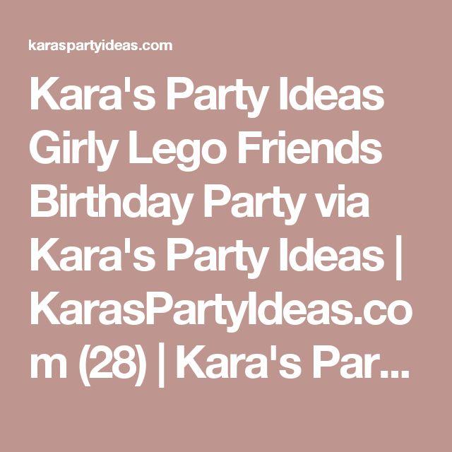 Kara's Party Ideas Girly Lego Friends Birthday Party via Kara's Party Ideas   KarasPartyIdeas.com (28)   Kara's Party Ideas