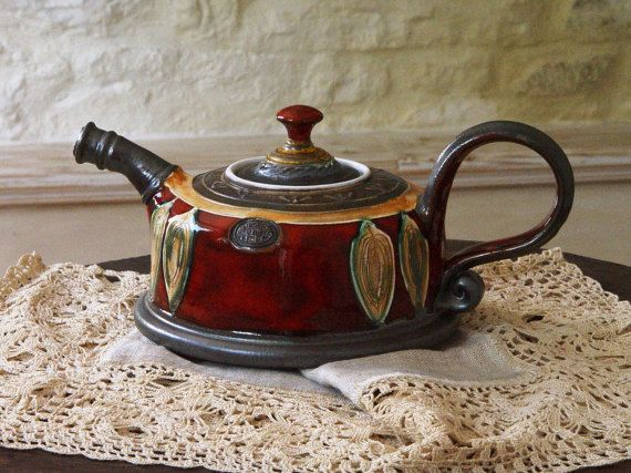 Unique Pottery teapot. Wheel Thrown Ceramic Teapot. Clay Tea Pot, Danko Pottery…