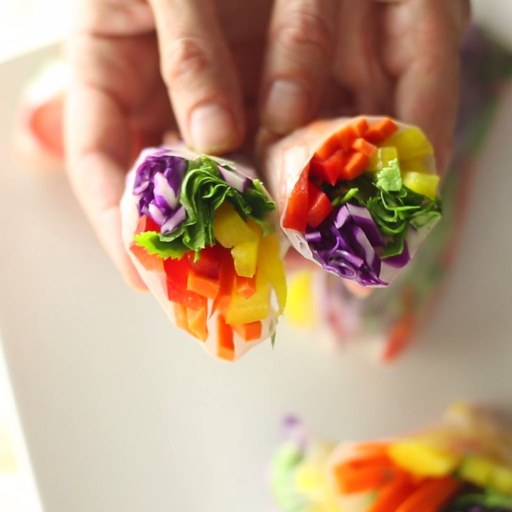 A colorful and fresh way to eat your veggies.