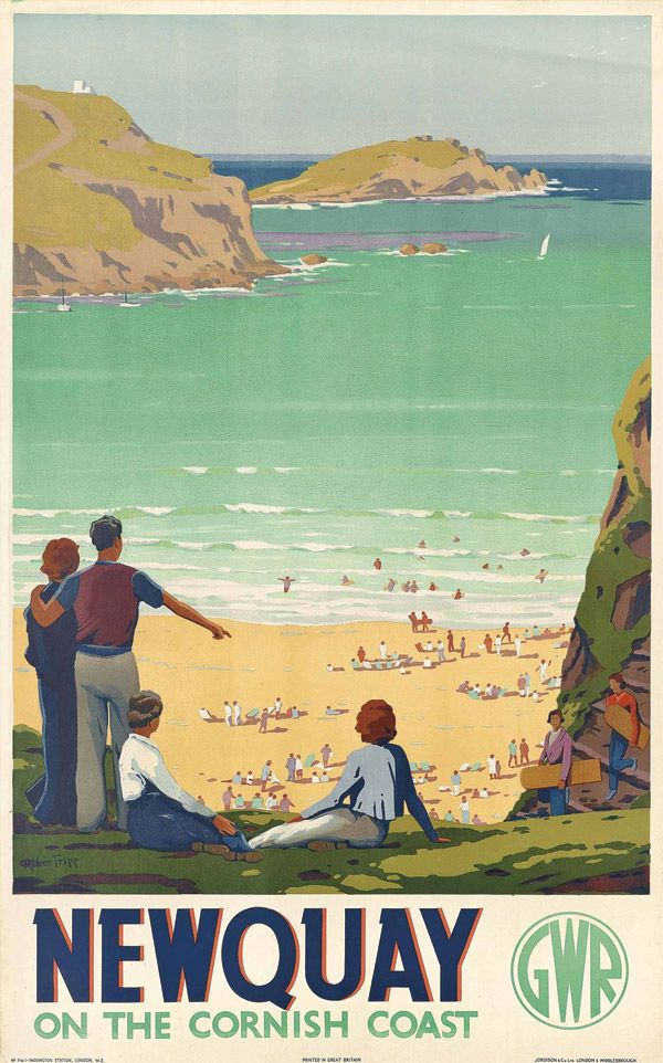 Vintage Travel Poster - Newquay