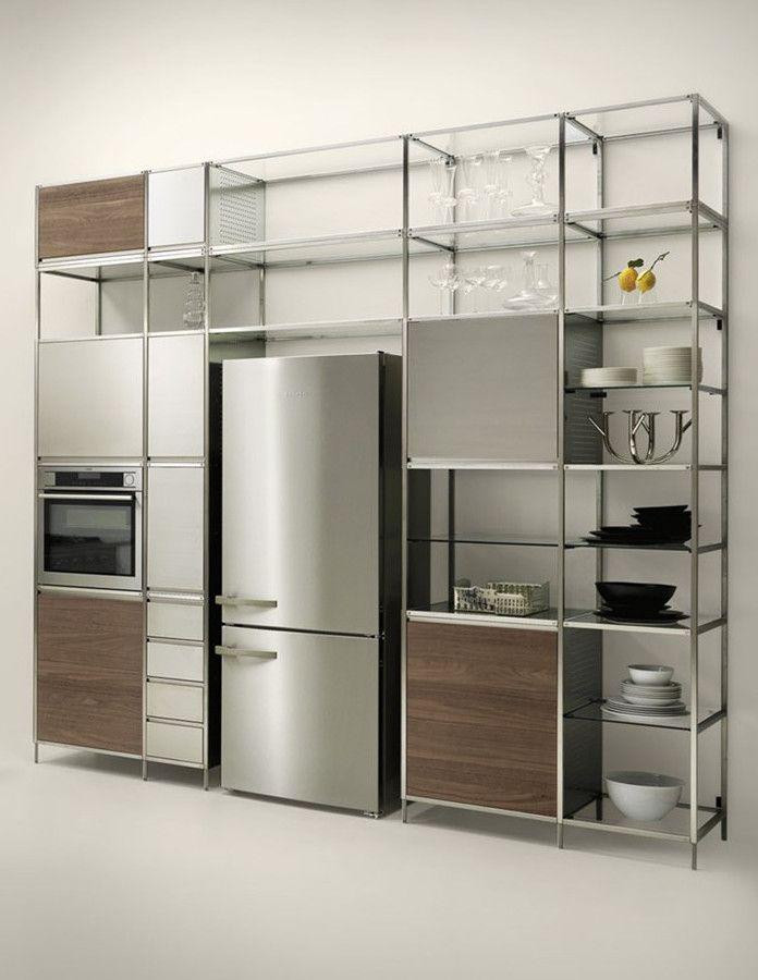 Meccanica by Valcucine: modular kitchen with a lightweight frame @valcucine