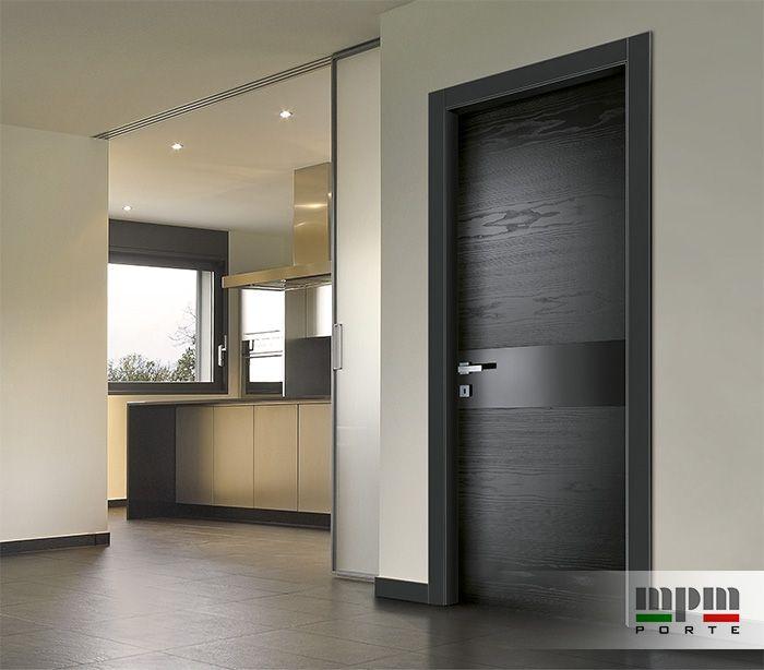 oltre 25 fantastiche idee su porte interne nere su. Black Bedroom Furniture Sets. Home Design Ideas