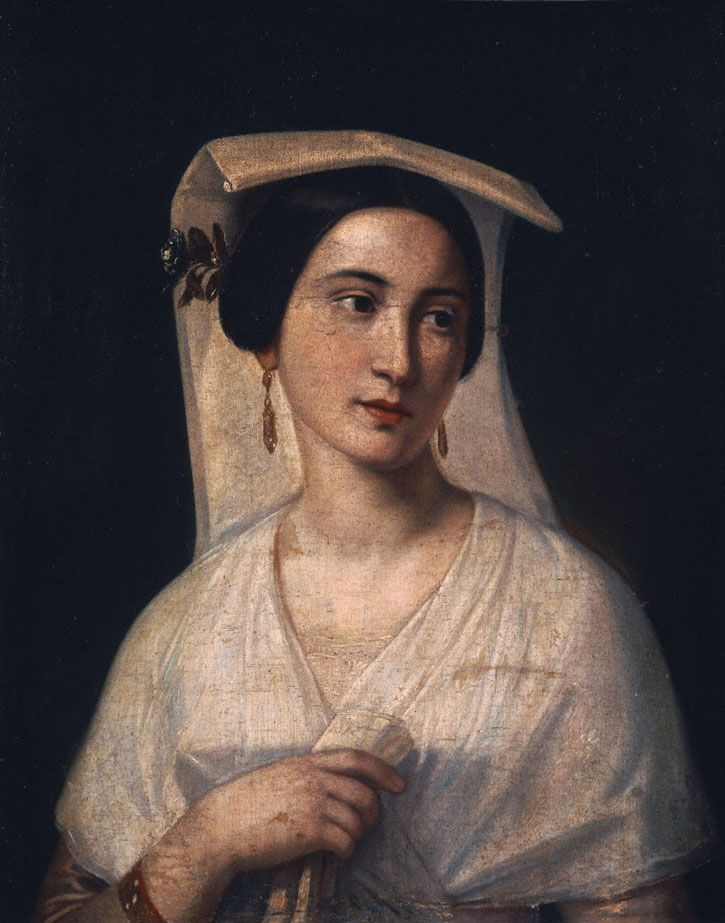 Pachis Charalambos, (1844-1891) Young woman from Corfu, ca 1873-1878 Παχής Χαράλαμπος (1844 - 1891) Κερκυραία κόρη, π. 1873-1878