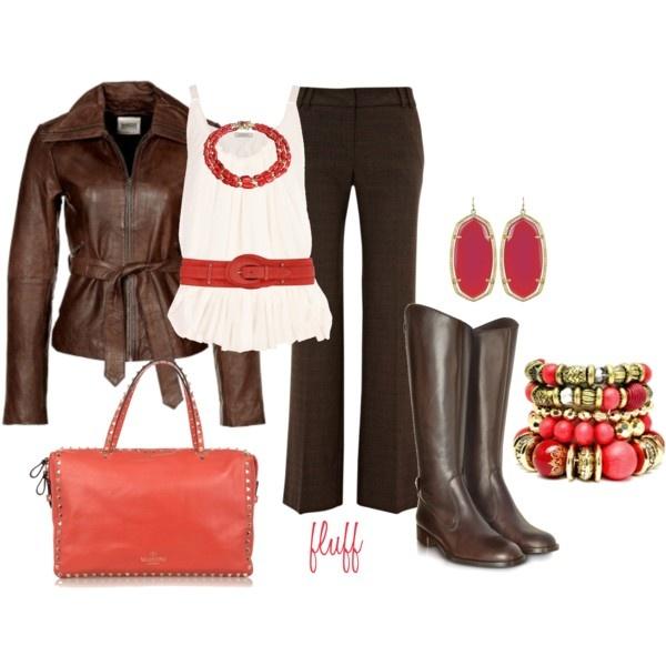 coral, PolyvoreFun Fashion, Style Pin, Fashion Forward, Mi Passion, Dreams Closets
