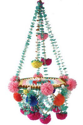 Beautiful Pajaki chandelier: party decoration flower paper chandelier summer fairy kids birthday