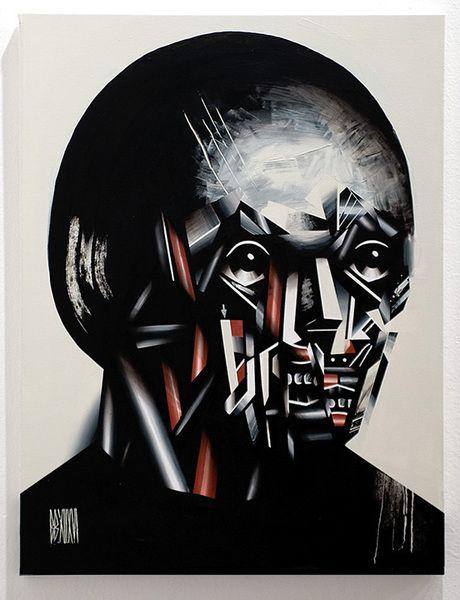 "Anno Domini presents Bohdan Burenko HEADS    Bohdan Burenko  HEAD No. 10  acrylic on canvas, 32"" x 24"". 2016    Please inquire for availability & price: cherri@galleryAD.com"