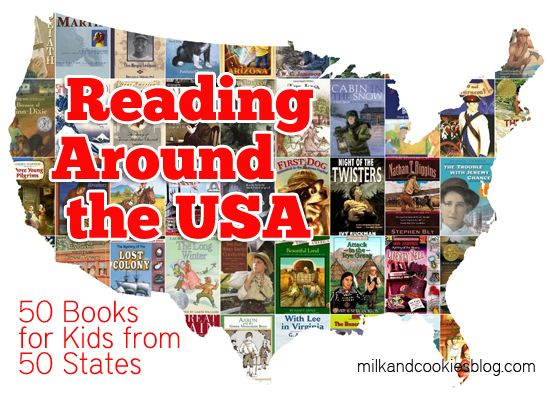 Reading Around the USA: 50 Books for Kids from 50 States