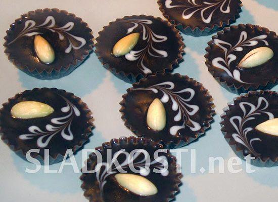 Mandlové košíčky s čokoládou