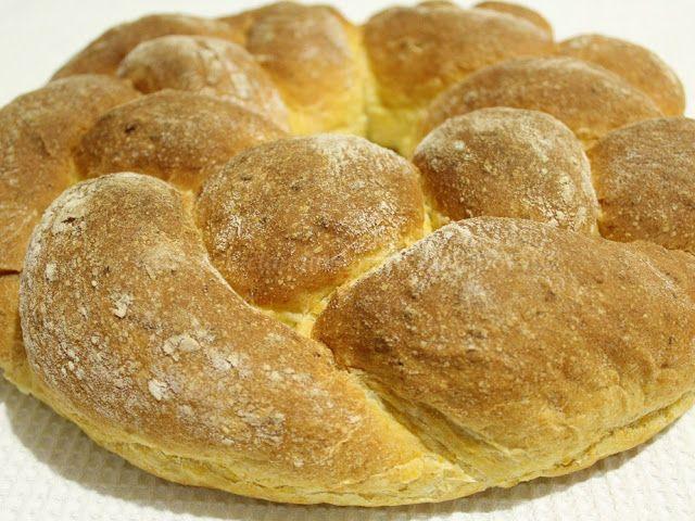 Le    ricette    di    Claudia  &   Andre : Corona di pane intrecciato alla zucca cruda, latte...