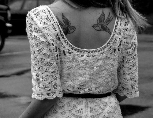 back tattoo - love
