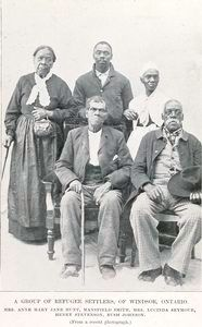 Refugee Settlers of Windsor, Ontario - from 'The African-American Migration Experience': NYPL Schomburg Center for Research in Black Culture. This Digital Resource includes primary sources and educational materials on the Transatlantic Slave Trade, the Underground Railroad, and the Great Migration and much more: http://www.inmotionaame.org/education/ #TeachNYPL
