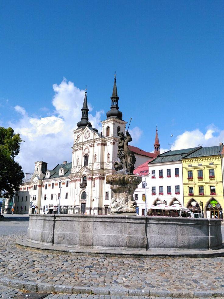 Masarykovo Namesti (main square) - Jihlava, Czech Republic