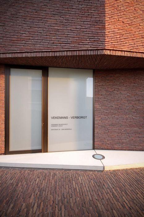 RE-ST Architecten, Belgian Brick Architecture Facing brick: Vande Moortel linea 3011 Clay paver: SeptimA Terrestre: