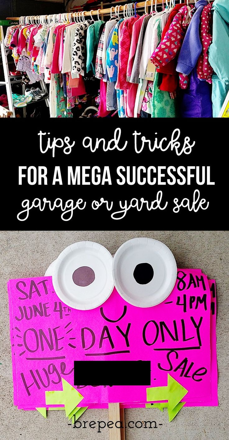 Learn how to host the very best garage sale ever - Garage Sale Tips For The Most Successful Garage Sale Ever