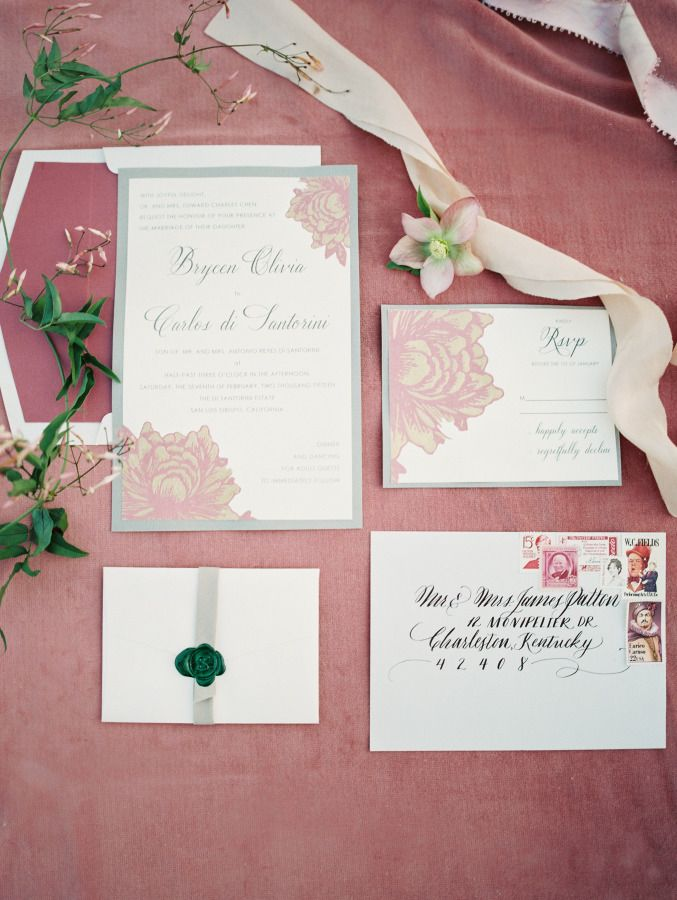 reply to wedding invitation m%0A Mauve  u     Stone Wedding Inspiration