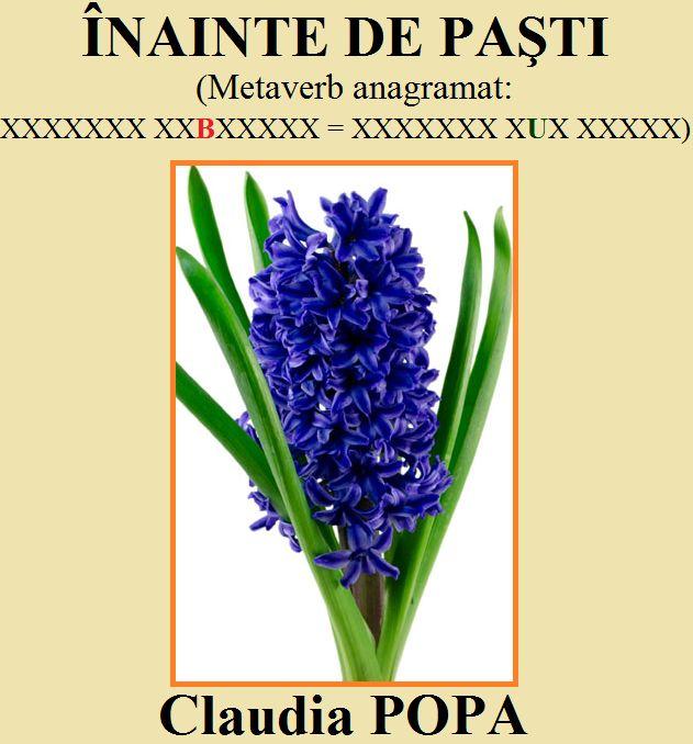 Jocuri de cuvinte, logice şi distractive, pentru orice vârstă: Colaborări... Claudia POPA.