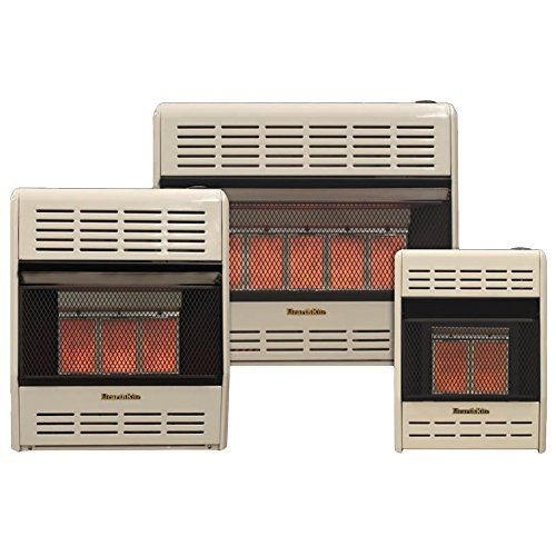 Hearthrite Vent-Free Infrared Gas Heater, Thermostat, Natural, Propane gas (15-18K BTU, Natural Gas (NG))