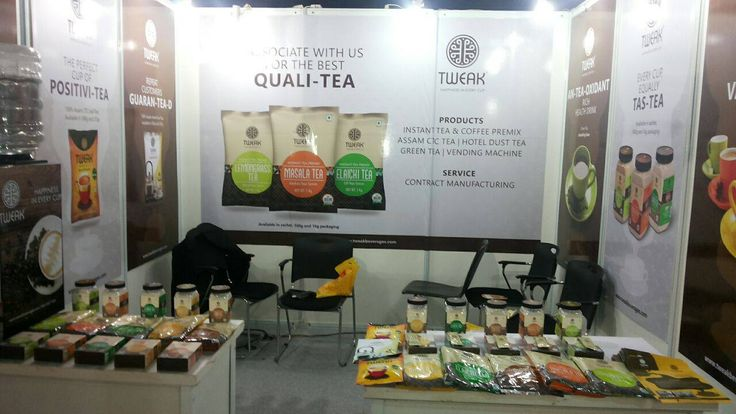 The #packaging was a #hit, so was their participation! This was Tweak's maiden #Tea & #Coffee exhibition and we are #proud to deliver the elegance for their #first impression.