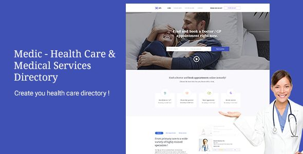 Medic - Health Care & Medical Services Directory by codenpixel Medic ¨C Health Care & Medical Services Directory Create you health care directory,find doctors,clinics,make reservations online,re