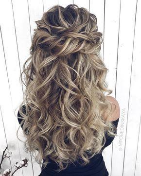 Long half up half down wedding hairstyles from mpobedinskaya  #wedding #weddings #weddinghairstyles #weddingideas