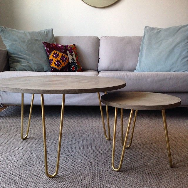 """LIVING ROOM COFFEE TABLES - qty: 2 - dimensions: 1 @ 30"""" D and 1 @ 24"""" D"""