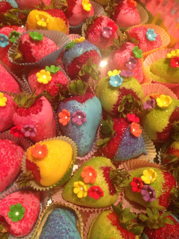 Chocolate Covered Strawberries Luau Themed Birthday