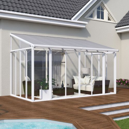 The San Remo Patio Enclosure is a sophisticated home addition providing you an affordable and maintenance free space for relaxation.