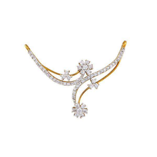 Sparkling Diamond Mangalsutra.