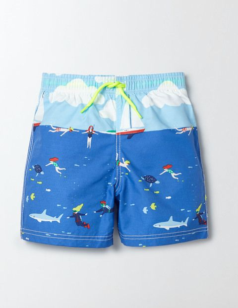 The bright, cheerful prints on our bather shorts are bound to get you noticed on…