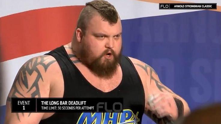 Eddie Hall 1025lbs * 465kg Deadlift World Record - 2016 Arnold Strongman...