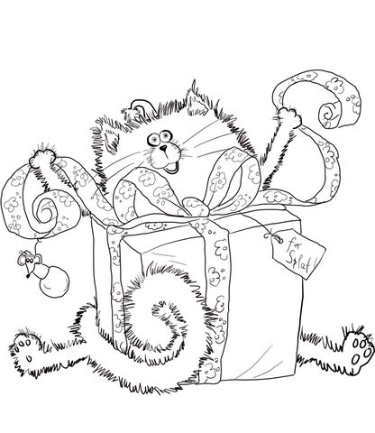 Click To See Printable Version Of Merry Christmas Splat Coloring Page