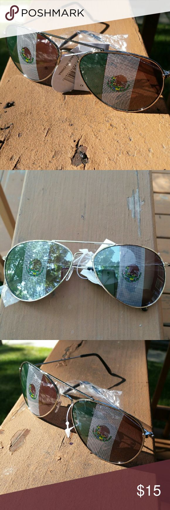 Mexican Flag Sunglasses Mens or Ladies Mexican Flag Sunglasses Other