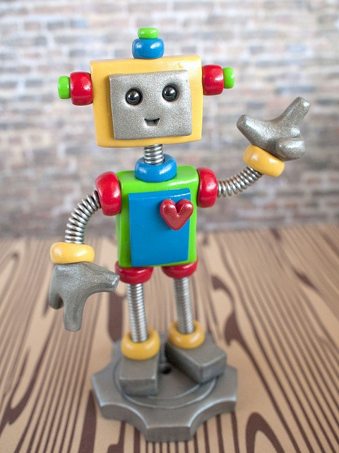 Commission 1st Birthday Robot Cake Topper by HerArtSheLoves, via theawesomerobots.com #robot #art