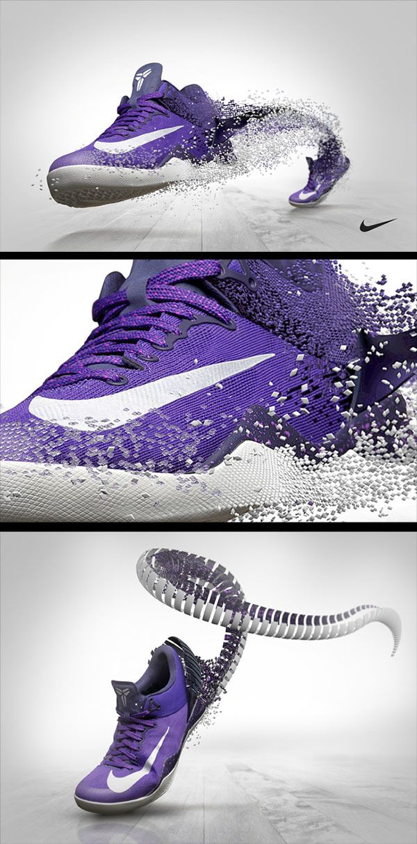 Nike Kobe 8 Concepts by Barton Damer, via Behance I really like how the  little squares are building the shoe. but I think it'd be better for our  theme if ...