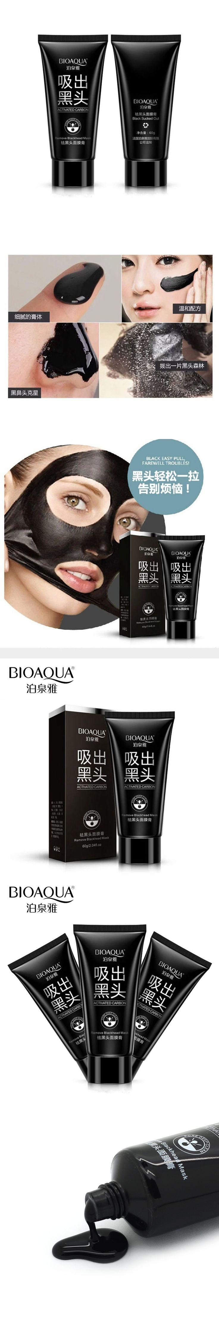 BIOAQUA Brand Suction Black Mask Facial Mask Nose Blackhead Remover Peel Off Black Head Acne Treatments Deep Clean Face Care