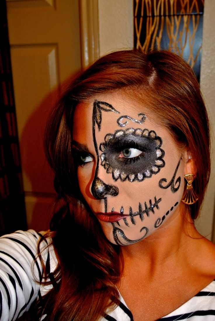 Dia de los Muertos Makeup | bEauty... | Pinterest