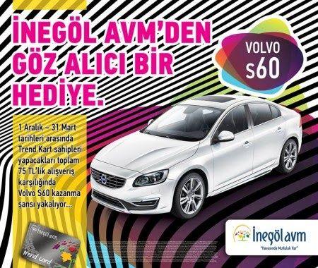 İnegöl AVM Çekiliş Kampanyası - İnegöl AVM Volvo S60 Çekilişi http://www.kampanya-tv.com/2014/01/inegol-avm-cekilis-kampanyasi-inegol-avm-volvo-s60-cekilisi.html