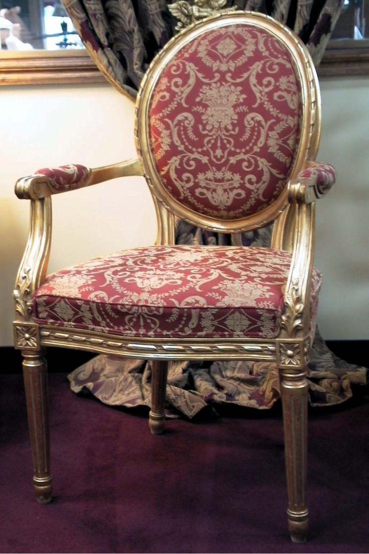 Louis XVI Oval Salon Armchair