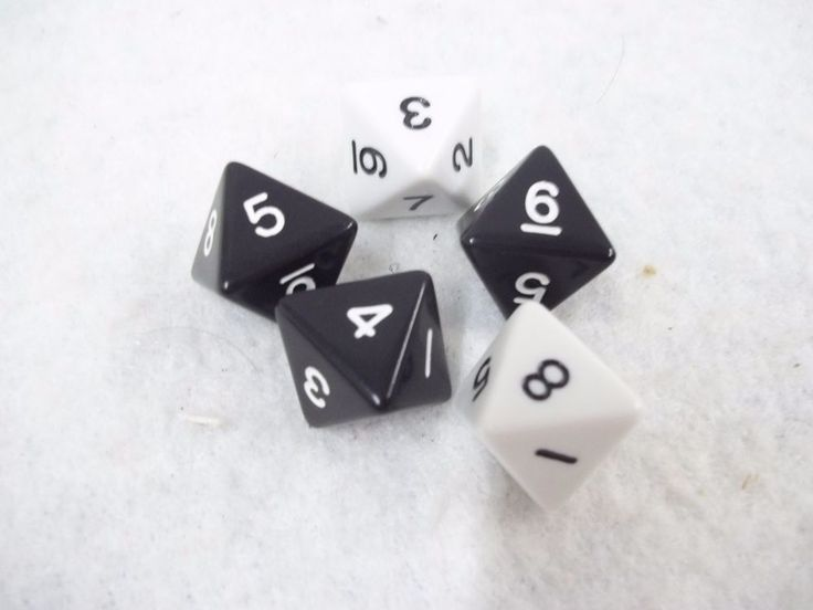 Risk 2210 A.D. Replacement 8 Sided Dice 8 Sided Set of 5 Dice Avalon Hill #AvalonHill #dice #Rick #Rick2210AD #eBay