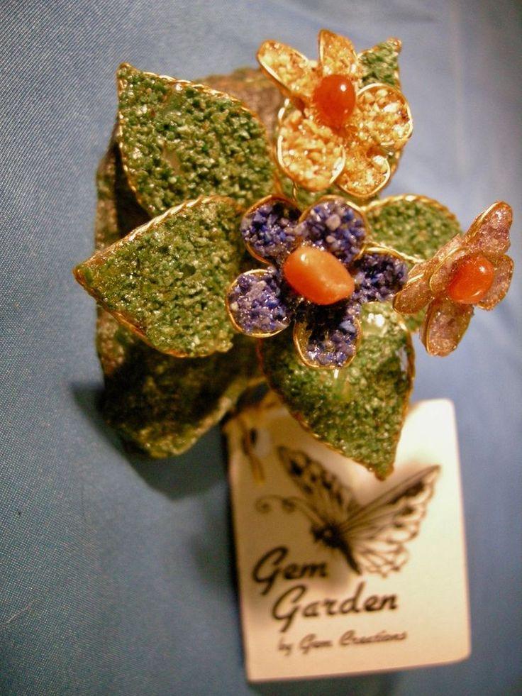 Flower Garden Gemstone Garden Stone Amethyst Quartz Gift Love Romance  #GemGarden