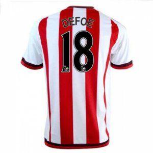 16-17 Sunderland FC Cheap Home Defoe #18 Replica Football Shirt [I00313]
