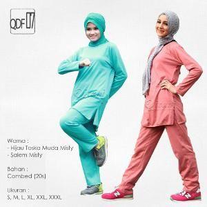 Baju Olahraga Sport Qirani Fresh Model QDF-07