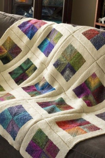 Knit Quilt Patterns : 17 Best ideas about Knit Blankets on Pinterest Knitted ...