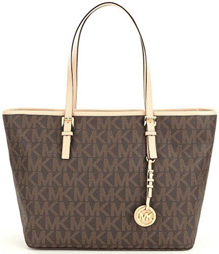 michael kors jet set travel brown Tote