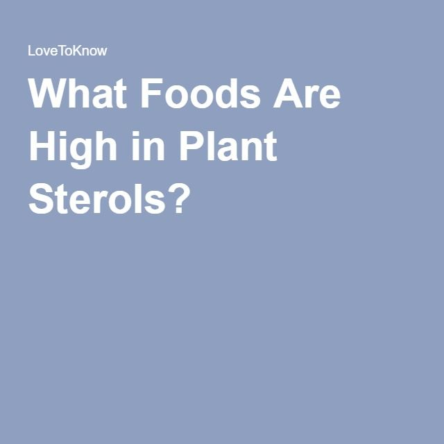 What Foods Are High in Plant Sterols?