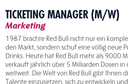 Ticketing-Jobs: Ticketing Manager beim FC Red Bull Salzburg