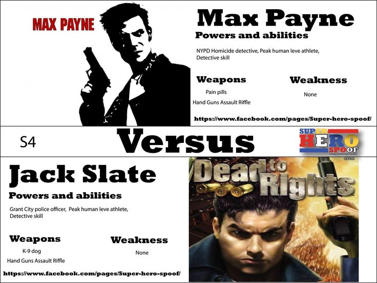 A show down of guns as these two officers of the law Face off... Max Payne vs Jack Slate! WHO WILL WIN, and why? Powers, abilities, weaknesses, and weapons are posted