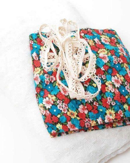 Como hacer una bufanda floreada con tela