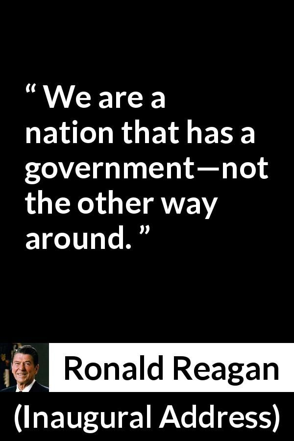 ronald reagans inaugural address Full text and audio and video of ronald reagan first inaugural address.